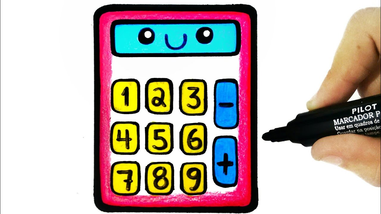 1280x720 How To Draw A Calculator Painting For Toddlers And Drawing