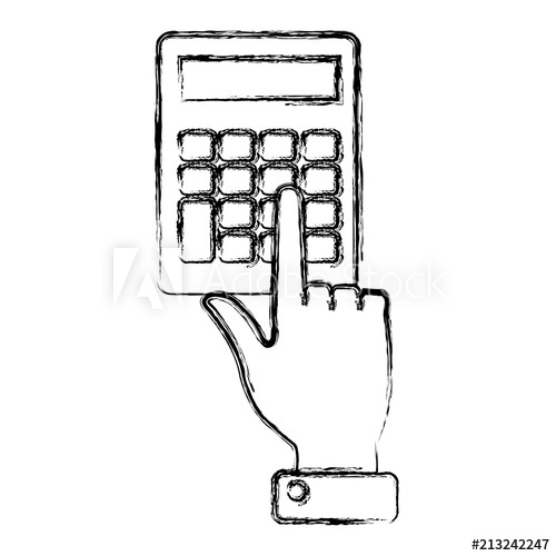 500x500 Hands With Calculator Math Isolated Icon