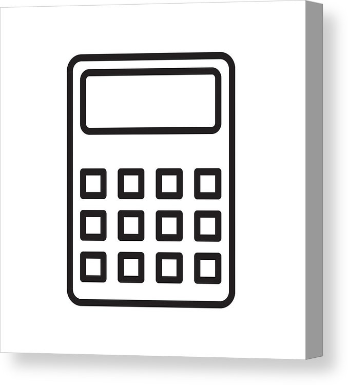 678x750 Calculator Icon Vector Sign And Symbol Isolated On White Backgro