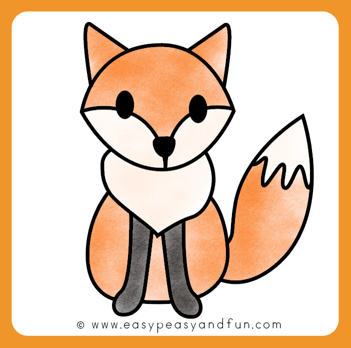 702x696 How To Draw A Fox