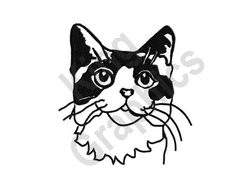 794x635 Cat Machine Embroidery Design Etsy