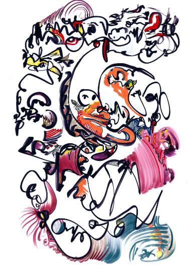 375x531 Circus Clown Drawing