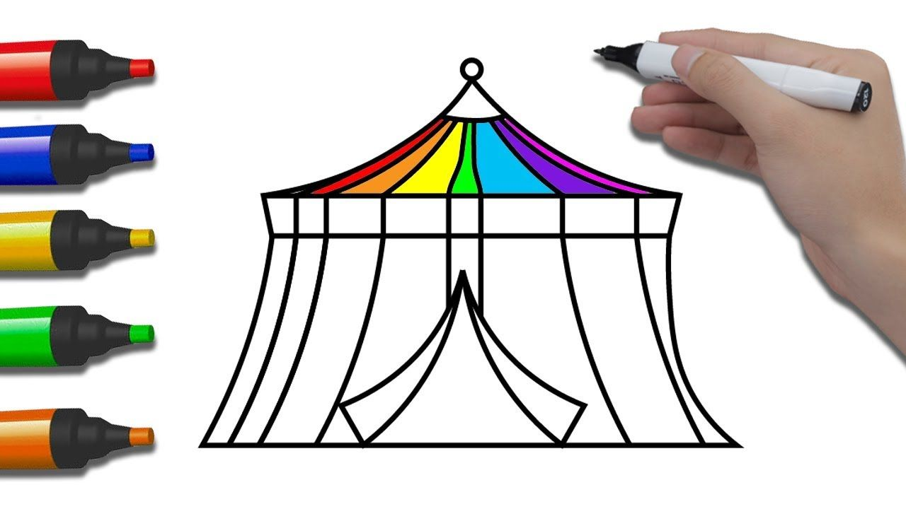 1280x720 How To Draw Circus For Babies Coloring Pages Circus For Children