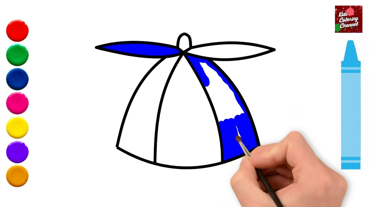 1280x720 How To Draw A Cap For Kids,cap Drawing Circus House Coloring