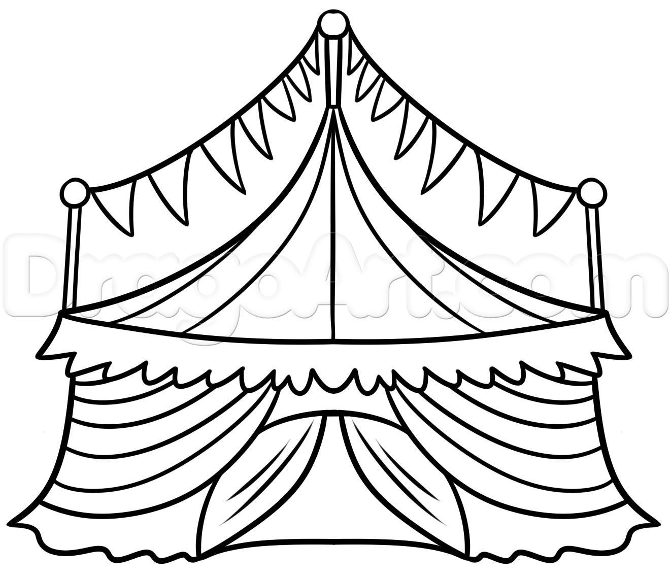 1322x1139 Step Circus Tent Drawing Tutorial
