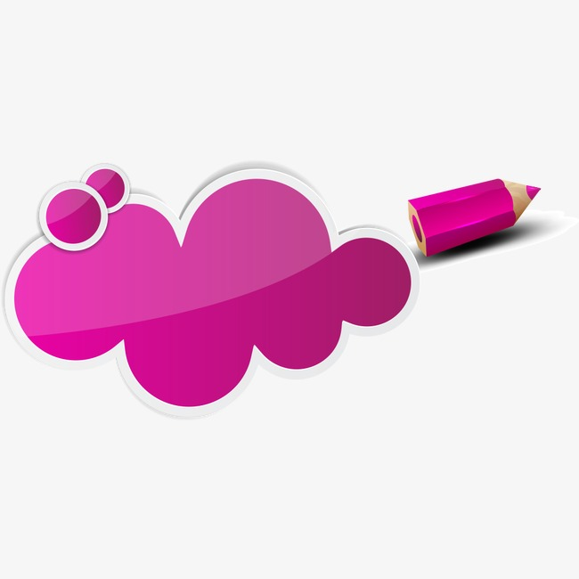 650x650 pencil, cartoon clouds, tag clouds, colored pencils png image