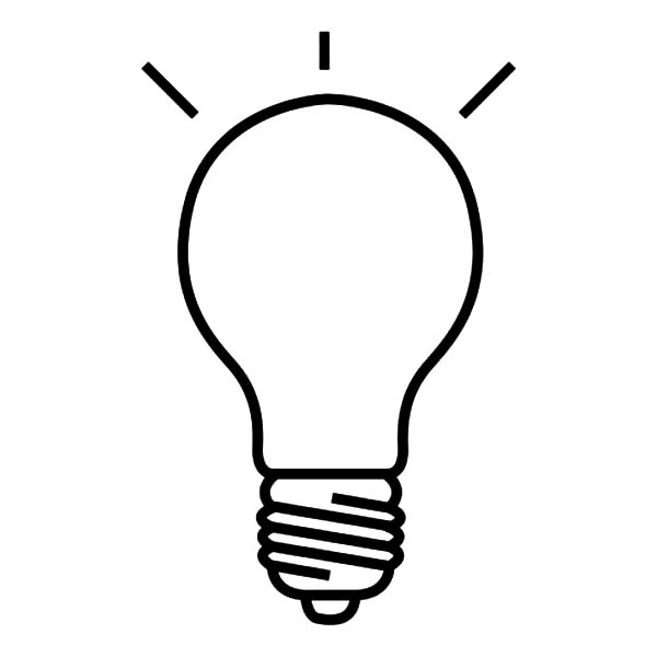 600x600 Drawing Light Bulb Coloring Pages