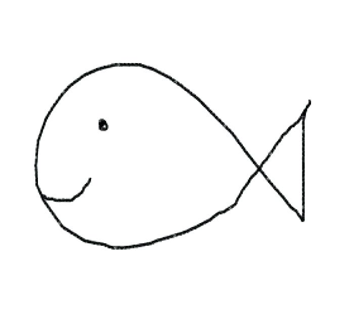 700x642 Fish Drawing Easy To Draw Of A Drawings Coloring