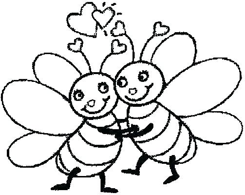 503x400 Coloring Pages Draw A Bee