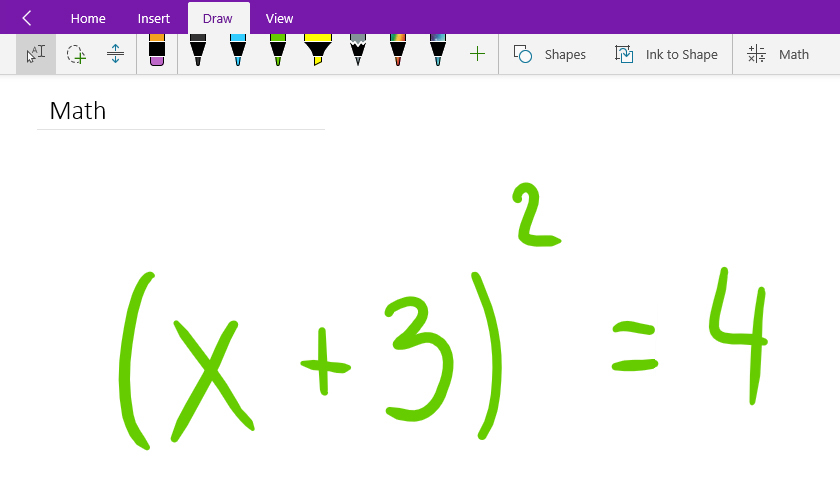 840x480 Convert And Solve Math Equations In Onenote For Windows