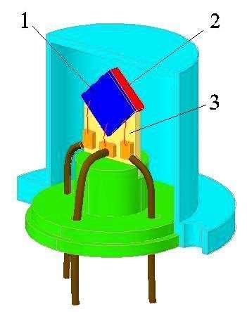 351x444 Schematic Drawing Of The Sealed Module For Thermal Neutrons