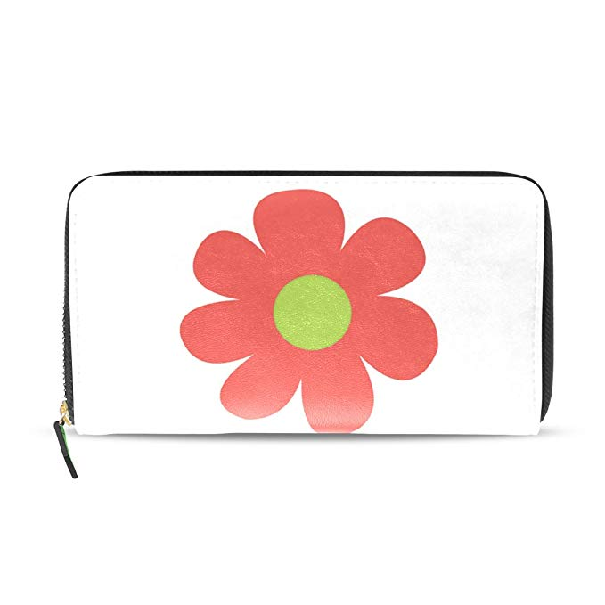 679x679 cartoon flowers drawing genuine leather wallet case credit card