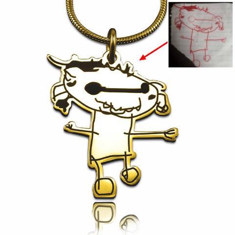 480x480 Custom Kids Drawing Necklace