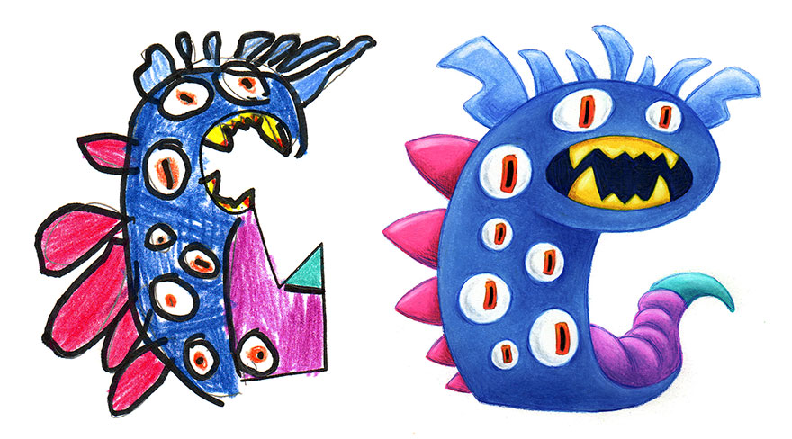 880x488 I Spent The Summer Drawing Monsters Based On Kid Drawings