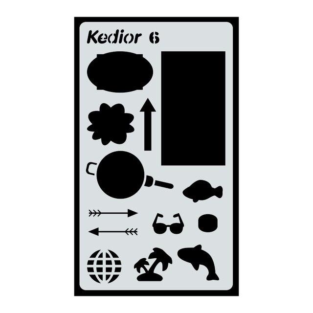 640x640 pc bullet journal stencil, plastic planner art supplies journal