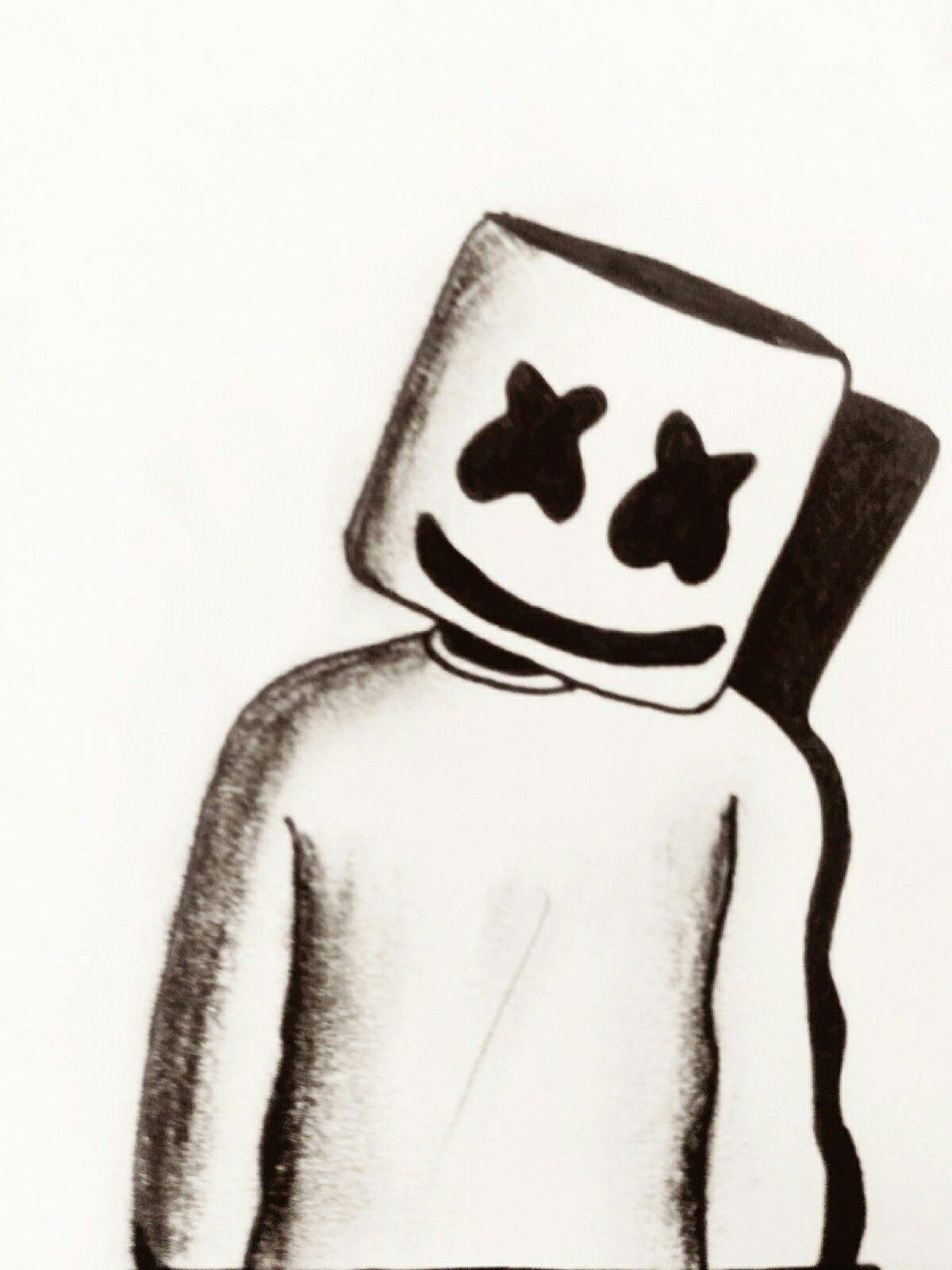 1200x1600 Marshmello Drawing My Drawings In Pencil Drawings