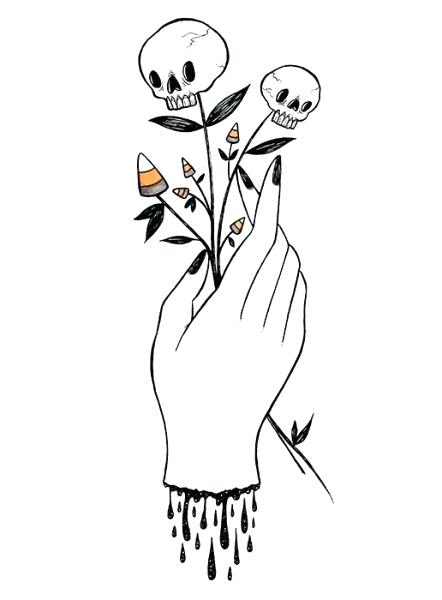 442x600 Halloween Drawing Ideas