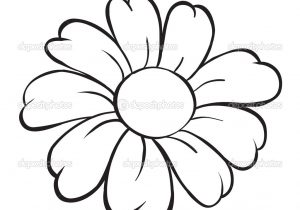 300x210 Easy Beginner Flower Sketch Drawing Simple Flower Image Simple