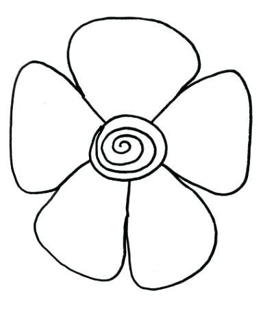 400x456 Draw Flowers For Kids Flower Easy Decorating Cookies