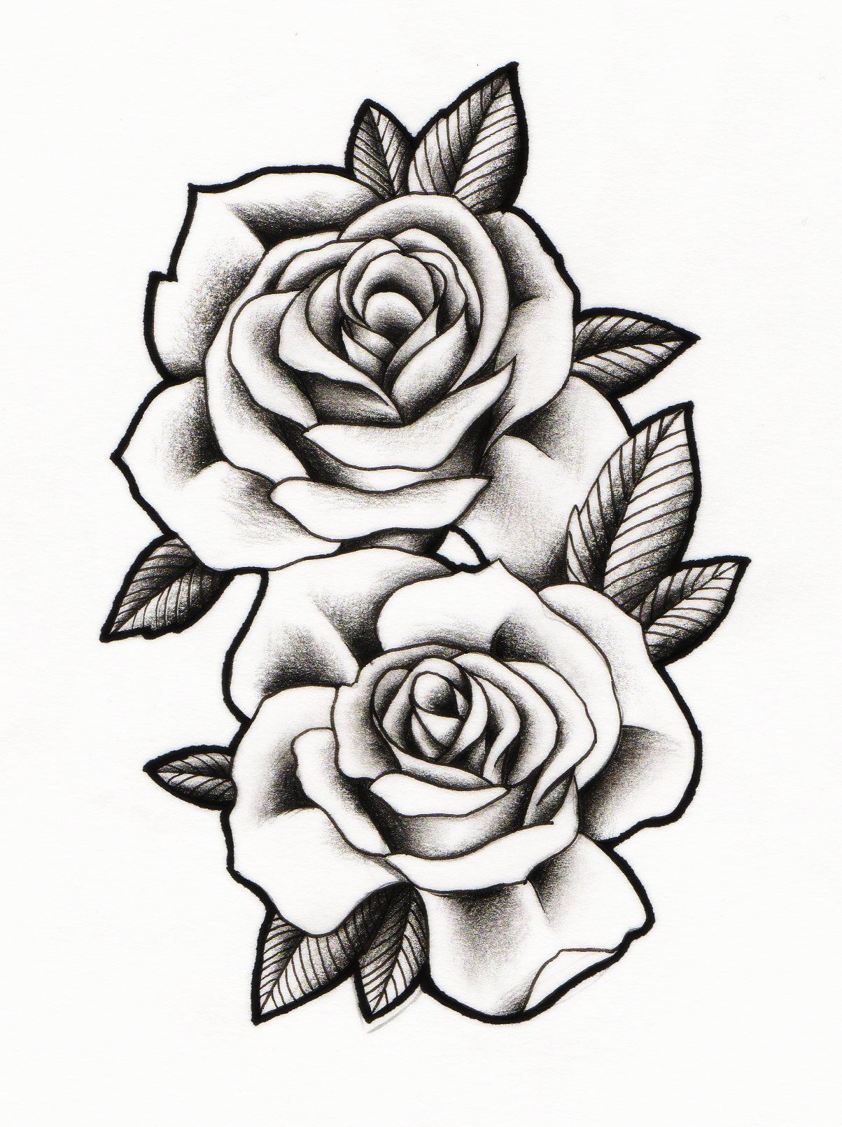 1203x1610 Rose Drawing Neo Traditional For Free Download