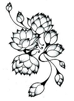 236x323 Flowers N Vine Tattoo Sample Tattoo