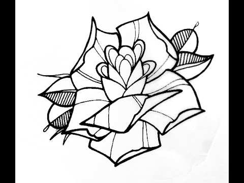 480x360 How To Draw A Tattoo Style Rose