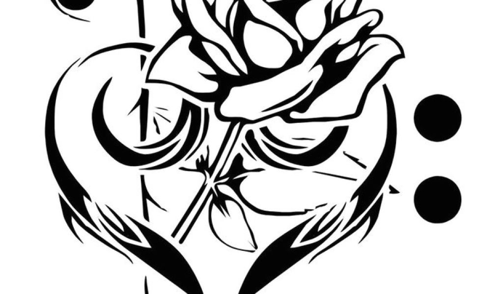 1024x600 Drawing Of Rose Tattoo Design Free Cool Music Tattoo Designs