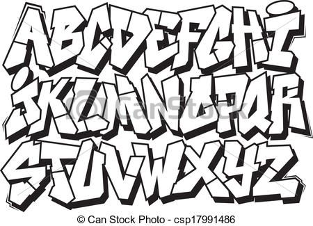 450x325 graffiti font vector clipart illustrations graffiti font