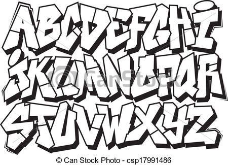 450x325 graffiti font vector clipart illustrations graffiti font