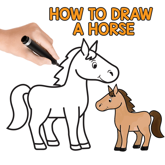 700x700 How To Draw A Horse Step