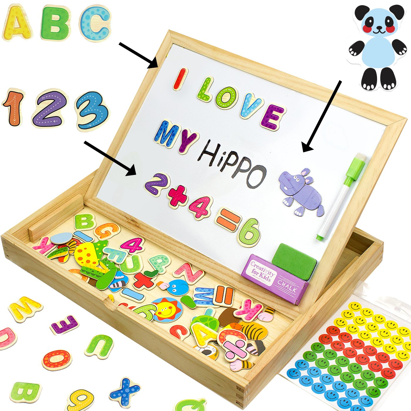 1400x1400 Jqp Educational Toy Xl Wood Magnetic Letters Numbers