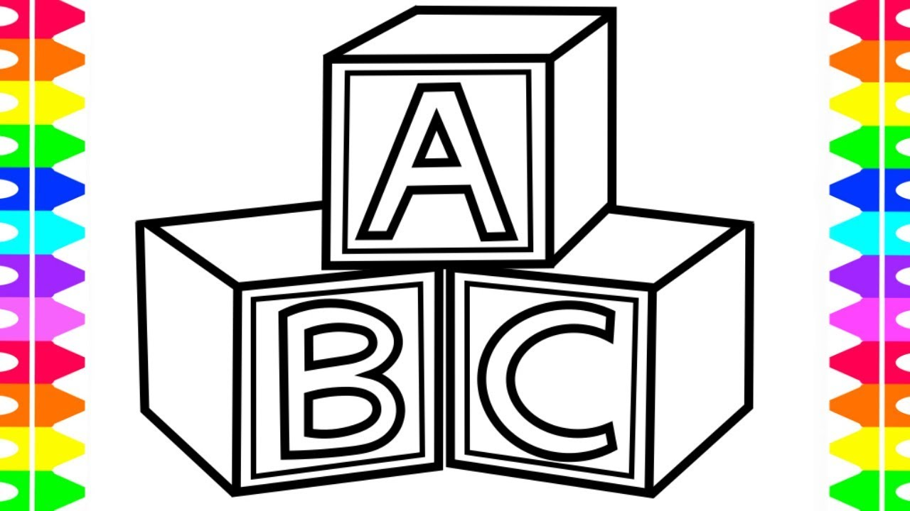 1280x720 How To Draw Abc Toys For Baby Coloring Pages And Drawing For Kids