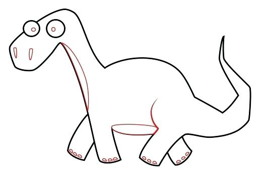 520x353 dinosaur drawing easy simple dinosaur drawing dinosaur drawing