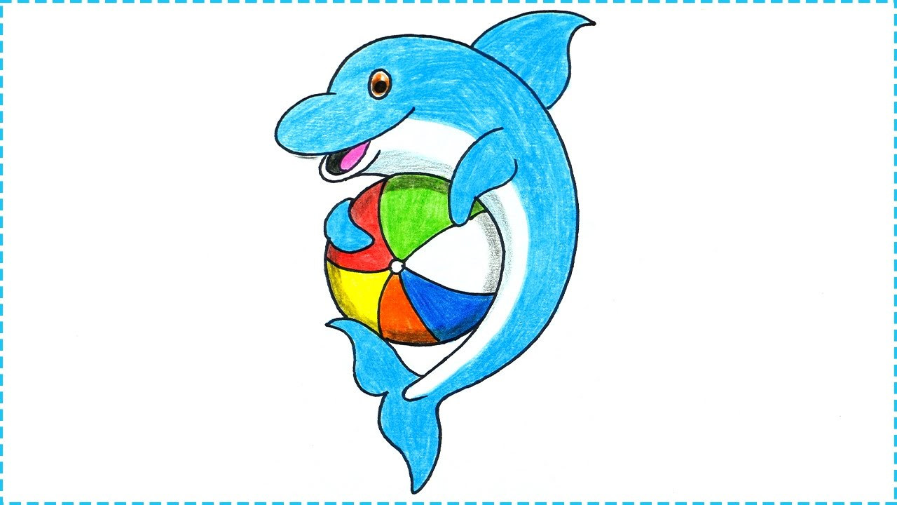 1280x720 Dolphins Drawings For Kids Free Download Clip Art