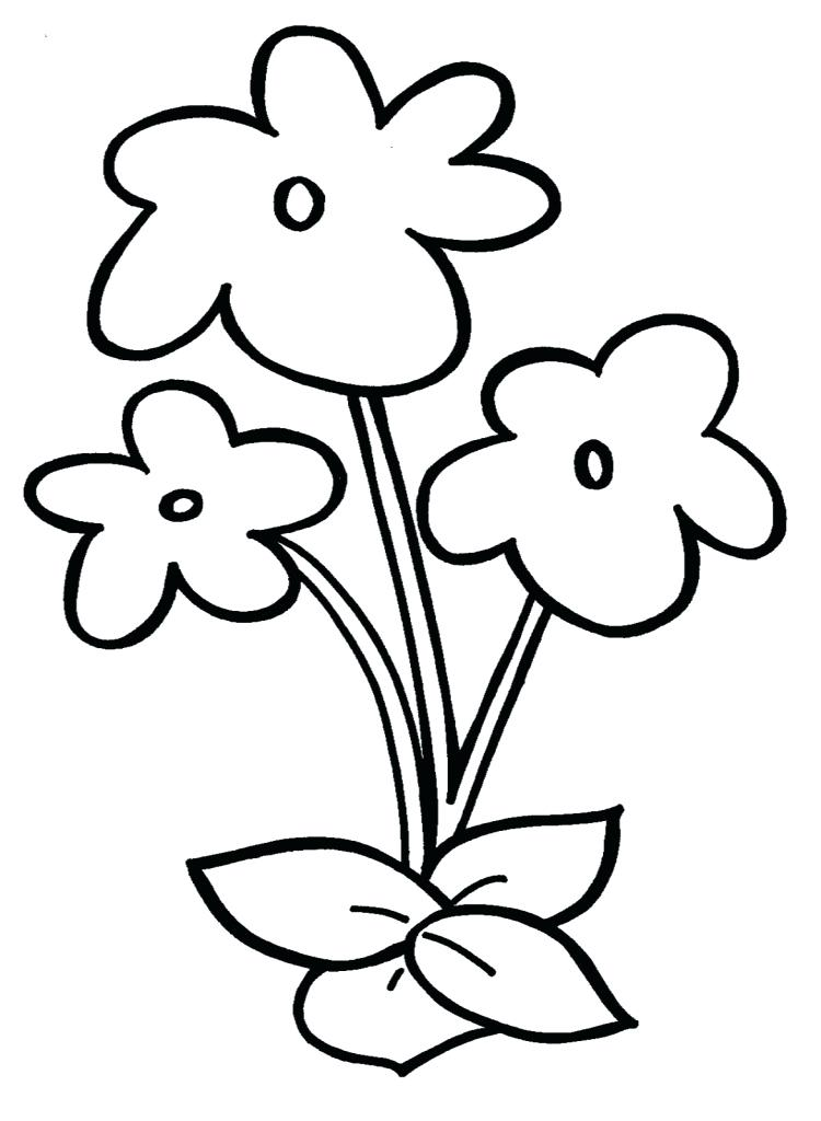 750x1024 Drawing Of Kids Simple Flower Drawing For Kids How To Draw Easy