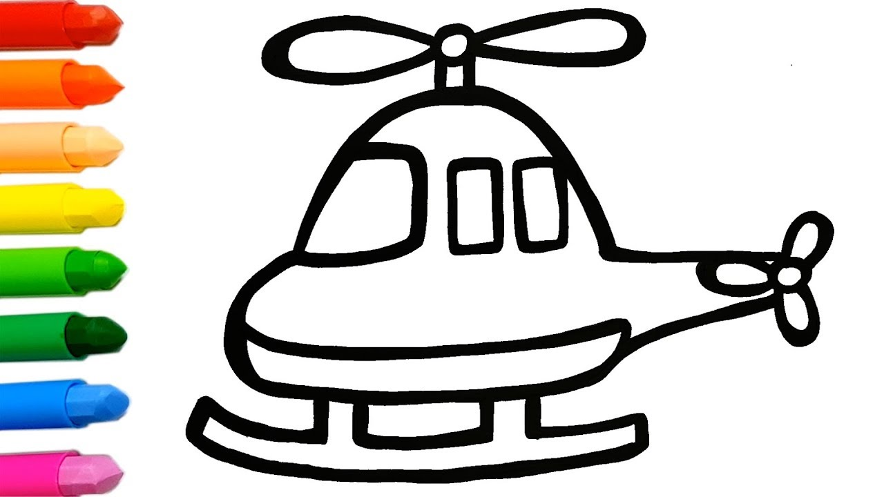 1280x720 Helicopter Coloring And Drawing Learn Colors For Kids Jolly Toy