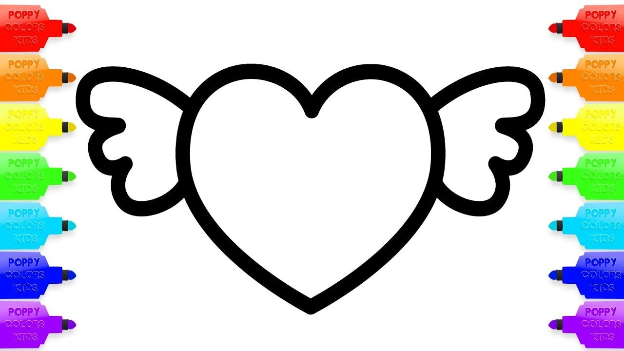 1280x720 Huge Collection Of 'heart Drawing For Kids' Download More Than