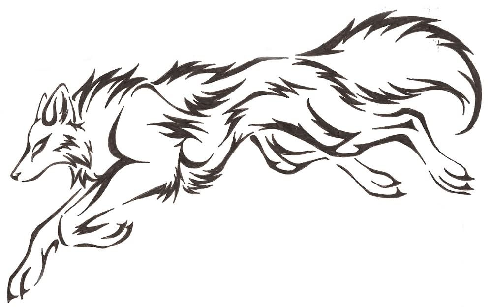 1000x624 Gallery For Gt Wolf Jumping At You Drawing Wolves And Other