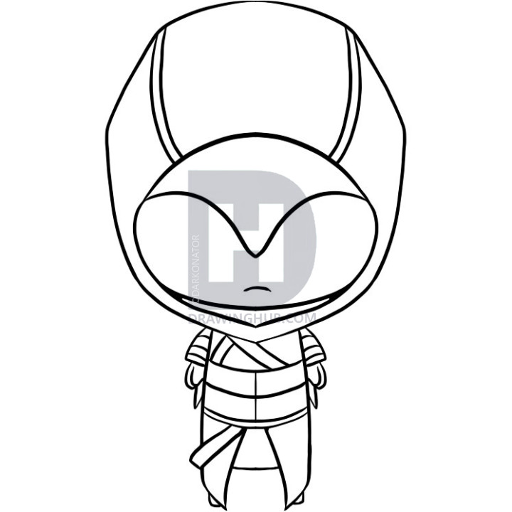 720x720 How To Draw Chibi Altair, Step