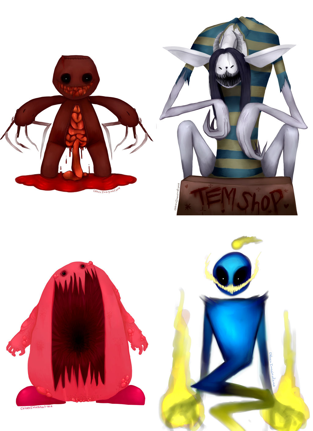1024x1413 Drawing Famous Cute Videogame Characters Scary