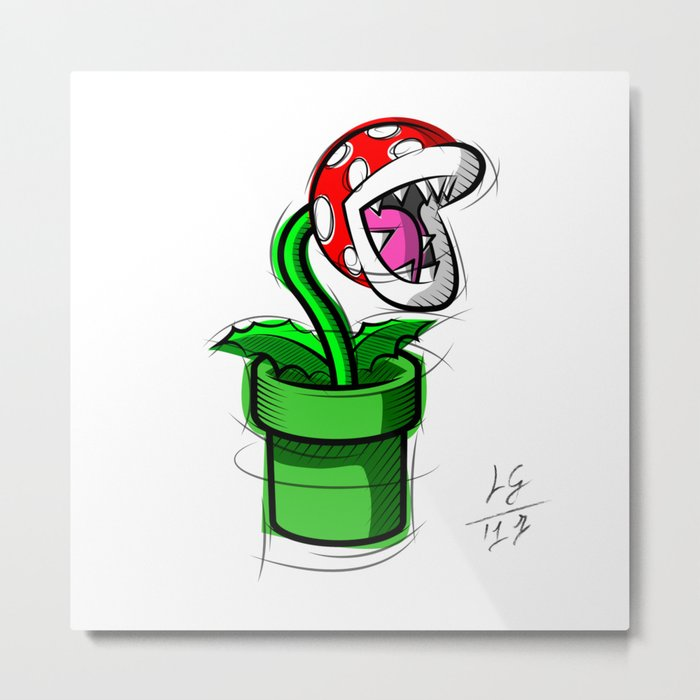700x700 Piranha Plant Digital Drawing, Games Art, Super Mario, Nintendo