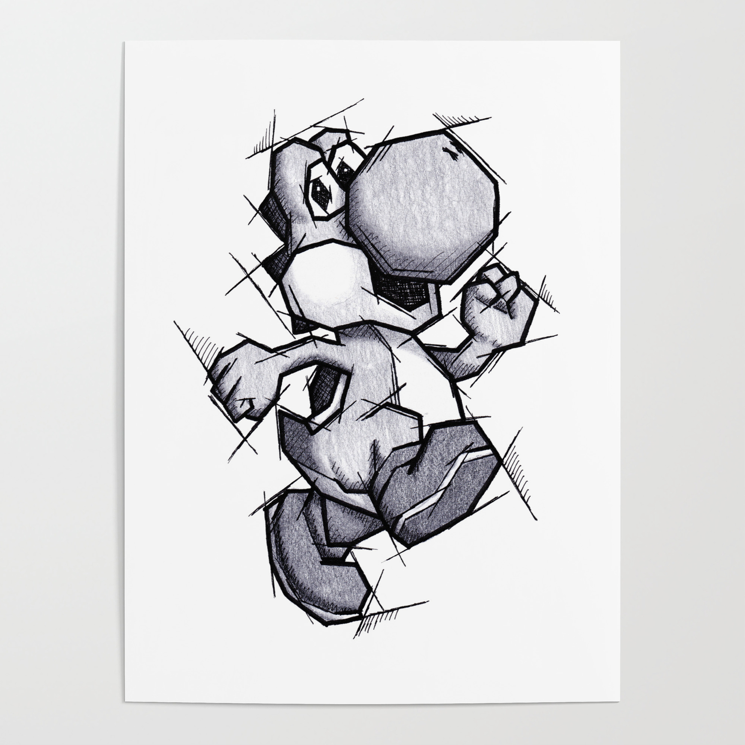 1500x1500 Yoshi Handmade Drawing, Games Art, Super Mario, Nintendo Art
