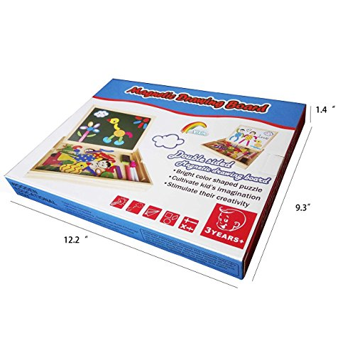 500x500 Yoptote Wooden Magnetic Easel Drawing Board Games Jigsaw Puzzles