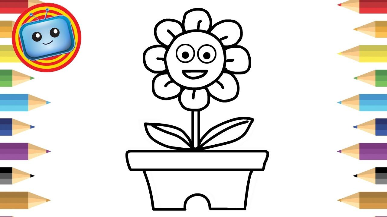 1280x720 How To Draw A Flower Simple Drawing Game For Kids Kids Art