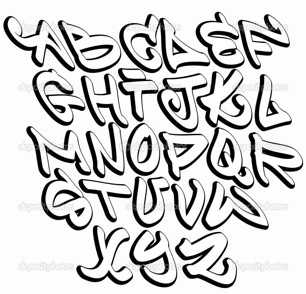 Drawing Graffiti Letters