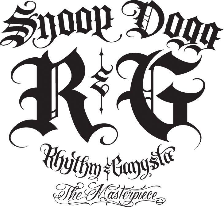 730x675 snoop dogg rhythm gangsta the masterpiece logos tattoo fonts