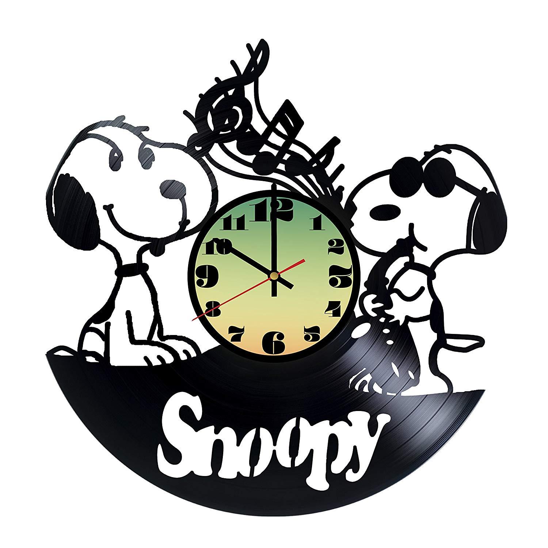 1500x1500 Snoopy Friends Handmade Vinyl Record Wall Clock