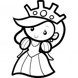 302x302 How To Draw A Queen For Kids Step Templats Drawing For Kids
