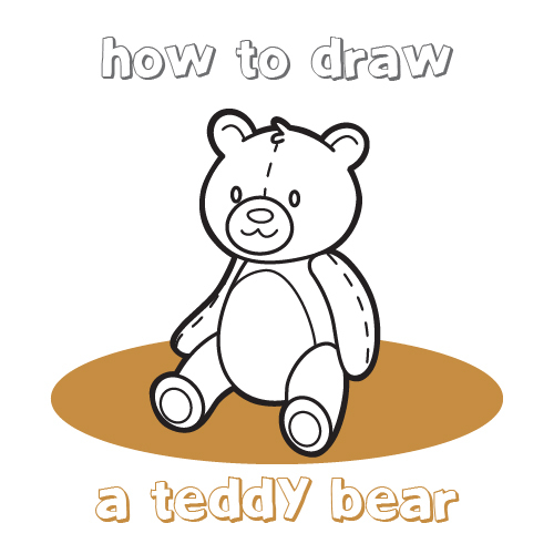 500x500 How To Draw How To Draw A Teddy Bear For Kids