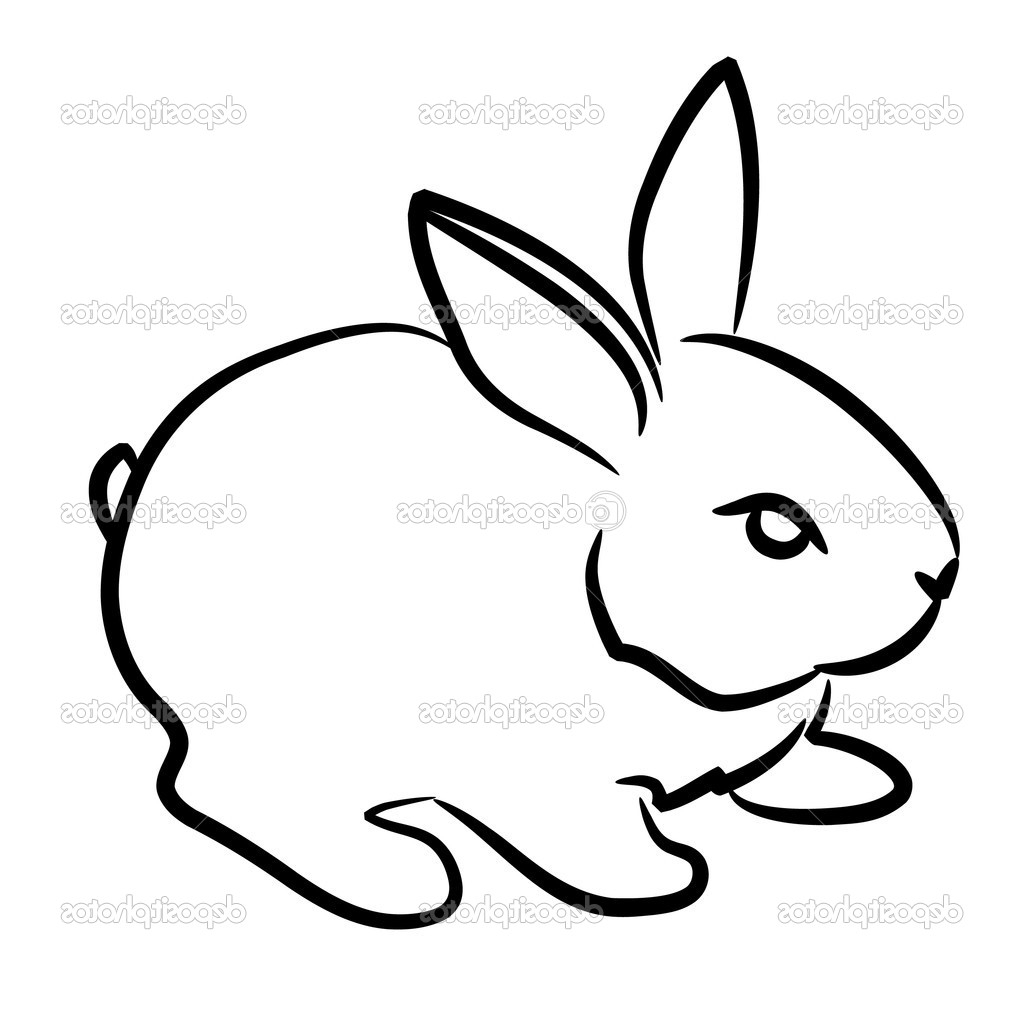 1024x1024 Rabbit Drawing For Kid And Rabbit Easy Drawing